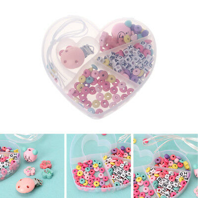 Baby Pacifier Chain Set Unfinished Wooden Beads Diy Jewelry Pacifier Clips Gift