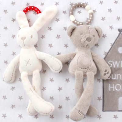 Baby Crib Stroller Toy Rabbit Bunny Bear Soft Plush Doll Mobile Pram kid Animal