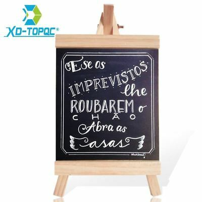XINDI 16*29cm Desktop Message Blackboard Easel Chalkboard Kids Collapsible