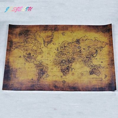 Large Vintage Style Retro Paper Poster Globe Old World Map Gifts 71*51 cm