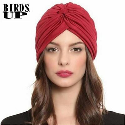 Turban Hats India Cap Headwrap Warm Beanies Head Scarf Headband