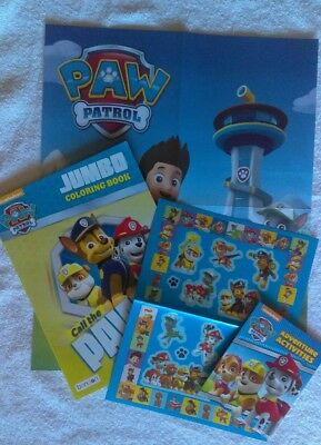 PAW PATROL JUMBO COLORING BOOK, poster, stickers and travel activity ...