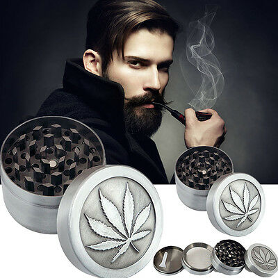 Metal 4 Layers Herb/Spice/Weed Alloy Smoke Crusher Leaf Smoke Herb Grinder Gifts