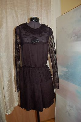 120bc0700d NWT FREE PEOPLE Black Lace Dress Size 0   228 -  79.99