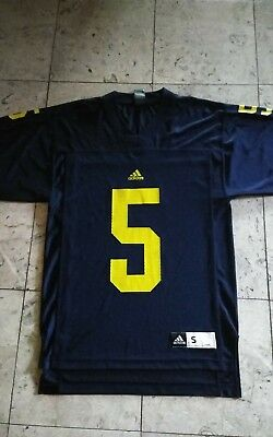 ADIDAS MICHIGAN WOLVERINES Home Jersey Yellow  10 Men s Size Small ... ebbf8822c