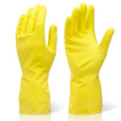 Extra Large Yellow Industrial Cleaning & Washing Up Rubber Gloves - XL. ...