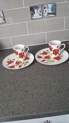 2 Queens China Tennis Sets   Hibiscus