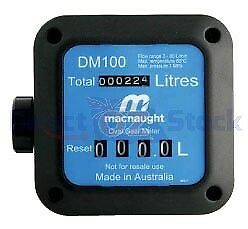 Macnaught Dm150 Fuel Meter Plus Filter To Measure Diesel, Kerosene And Petrol