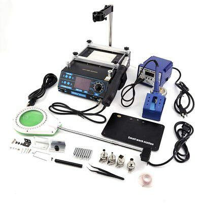 2018 Newest 3 in 1 Soldering Iron Station,Hot Air & and Preheating Station US HT