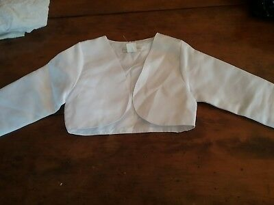 Boys white suit jacket Size 4 Preowned VGC