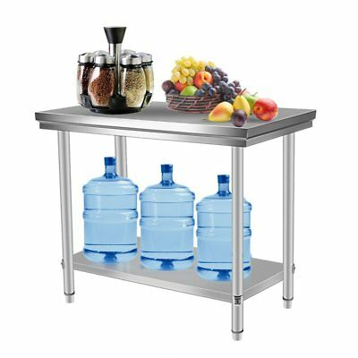 "Stainless Steel Commercial Kitchen Work Food Prep Table  - 24"" x 48"" Kitchen"