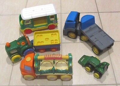 5 Large Toy Vehicles Little Tikes Trucks Kiddieland Ertl Tractor Tyco Camper Van