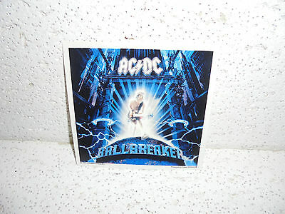 Vintage AC/DC Glossy Sticker 1998 RARE Angus Young  Ballbreaker