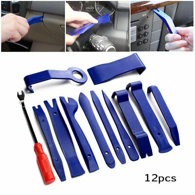 12pcs Blue Auto Car Audio Door Dash Tirm Panel Install&Removal Pry Tool + EP BaR
