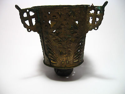 Vintage Magnificent Bronze Icon-Lamp Byzantine   #5l