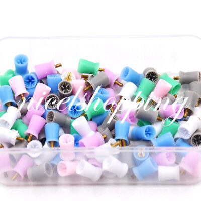 Dental Polishing Prophy Prophylaxis Cups Screw On Type Rubber Polisher 100 Pcs