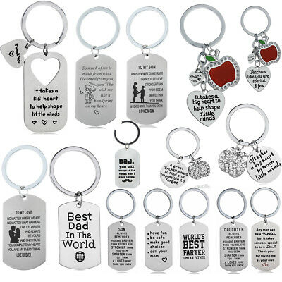 Keyring To My Son Daughter For Mother Father Keychain Pendant Various Style.eiKY