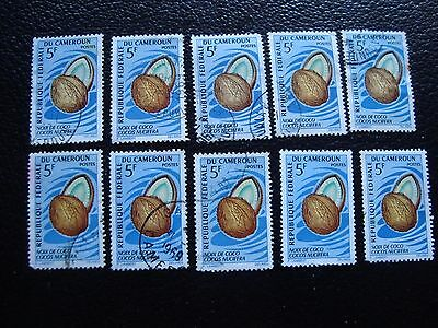 cameroon - stamp yvert and tellier n° 445 x10 obl (A03) stamp cameroon