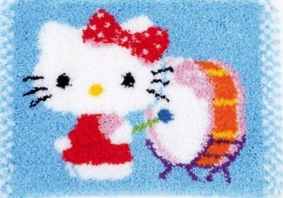 "Vervaco Knüpfteppichpackung"" Hello Kitty Tambores"" Pn-0156491"