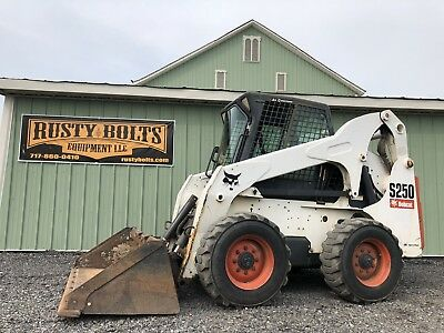 2007 Bobcat S250 Skid Steer Loader Enclosed Cab Heat Ac 2Spd Cheap Shipping