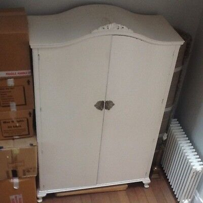 VINTAGE DOUBLE WARDROBE ARMOIRE shabby chic