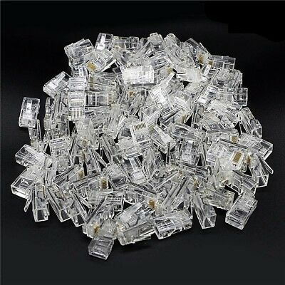 RJ45 CAT6 Modular Network Connector / Plug (100 Pcs)