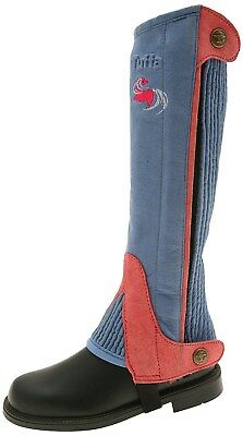 Tuffa Shetland Amara CHILDRENS Half Chaps - child size LARGE- baby blue / pink