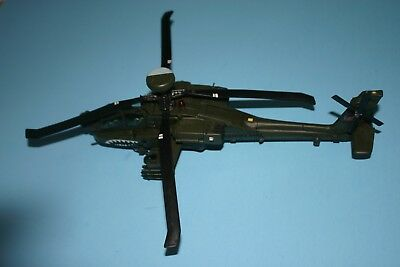 Vintage Unimax Longbow Apache Ah-64D Helicopter Model Toy Display