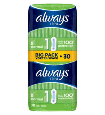 Always Ultra Normal (Size 1) Sanitary Towels 30 Pads, from 5.99, chose your quan