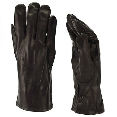 Original Russian army gloves. Military issued genuine leather black NEW
