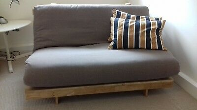 Futon Mattress And Oak Frame Double Size From Company Good Condition