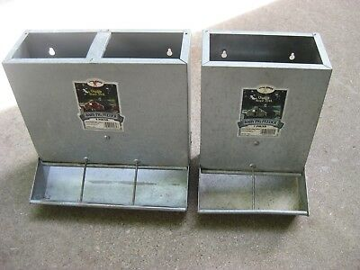 Two-Little Giant Galvanized Baby Pig Feeders - Model Bpf2 (7 Lb) & Bpf3 (9 Lb)