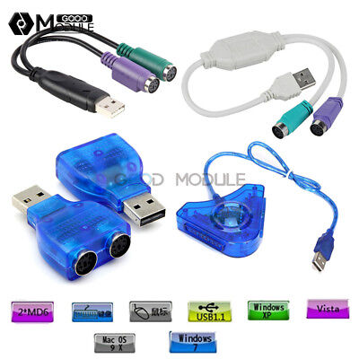 10 PS/2 FEMALE PS2 to USB 2 0 Male Port Adapter Converters for PC