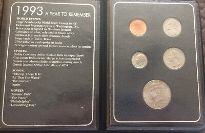 """1993 Coin Proof Set A Year To Remember That Very Special Year. 6"""" L"""