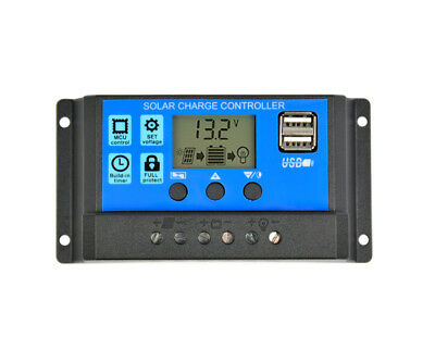 Solar Charge Controller 12V 24V 30A 20A 10A Automatic Solar Panel Controller