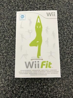 nintendo wii fit instruction book manual user booklet very good rh picclick co uk wii fit plus instruction manual Japanese Wii U Instruction Manual