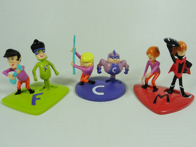 The Impossibles Hanna Barbera 1998 Complete Set 6 Figures Loose Mint Conditions