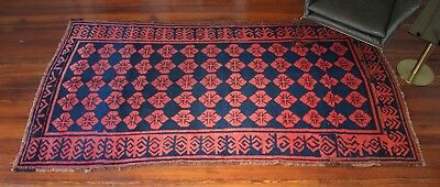 """Beautiful Antique Central Asian Rug Vintage Rug 4'9"""" x 8'1"""" Persian Turkish"""