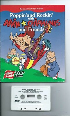 ALVIN CHIPMUNKS Activity Story book Tape sing music Witch Doctor Achy Breaky NEW