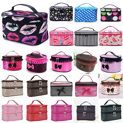Womens Organizer Beauty Case Make Up Large Cosmetic Bag Pouch Toiletry Handbag