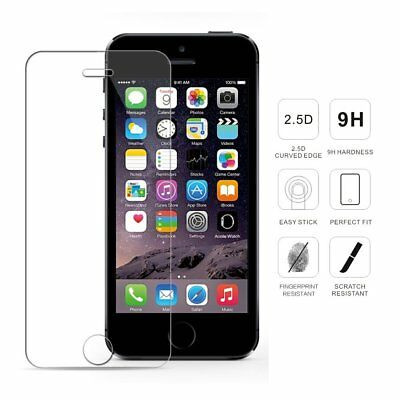 Panzer Folie für iPhone 5 / 5S / 5C / SE  Display Schutz Glas Hart Glass 9H Echt