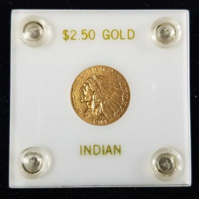 1914 D $2.5 Indian Head Quarter Eagle Gold Pre 33 Great Collector Coin SS060912