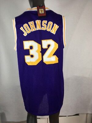 59c807268e2 Adidas Hardwood Classics LA Lakers  32 Magic Johnson Jersey XXL Length +2  NWT