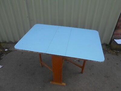 Vintage 1960s 1970s PLASTIC TOPPED Top Melamine FORMICA Table 1.15m x 0.76m