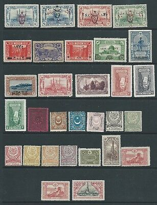 Turkey Good Lot Early Mint Hinged First Scan Unused No Gum Second Scan