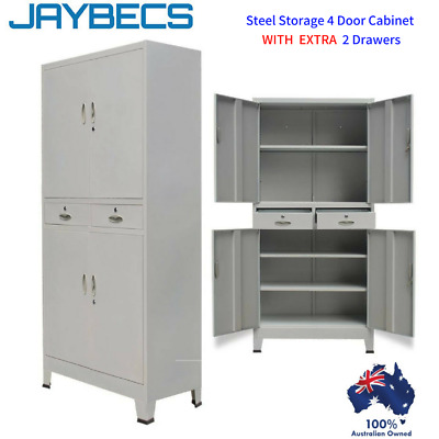 Steel Storage Cabinet Metal Garage Office Stationary Cupboard Filing Drawers New