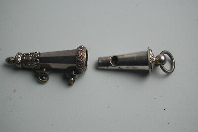 Ornate Victorian Solid Silver Military Dress Whistle, Joseph Jenners & Co