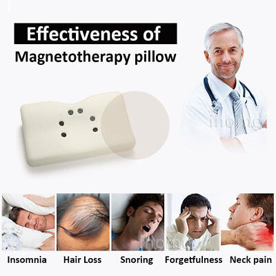 NEW Magnetotherapy MAGNET Rebound MEMORY FOAM Orthopedic Neck Bed SALON PILLOW