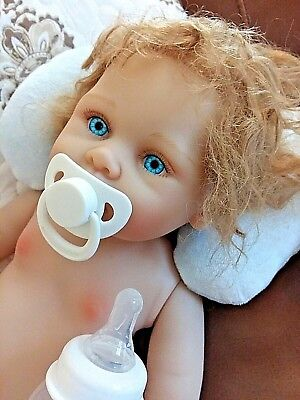 Reborn Real Boy  Softest All Vinyl Skin, Blue Eyes , Anatomical  Twin To Girl