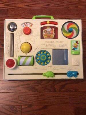 Vintage Fisher Price Activity Center #134 Busy Board Made in USA Works Great!